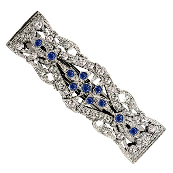Sapphire Bridal Hair Barrette $38.00 AT vintagedancer.com