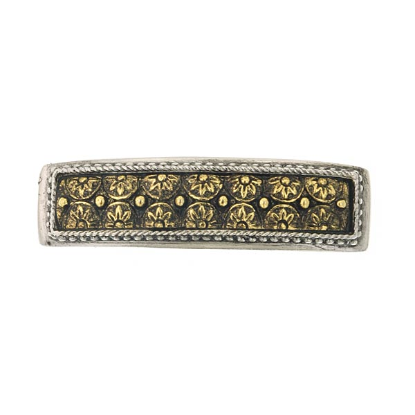 Silver-Tone and Gold-Tone Floral Barrette