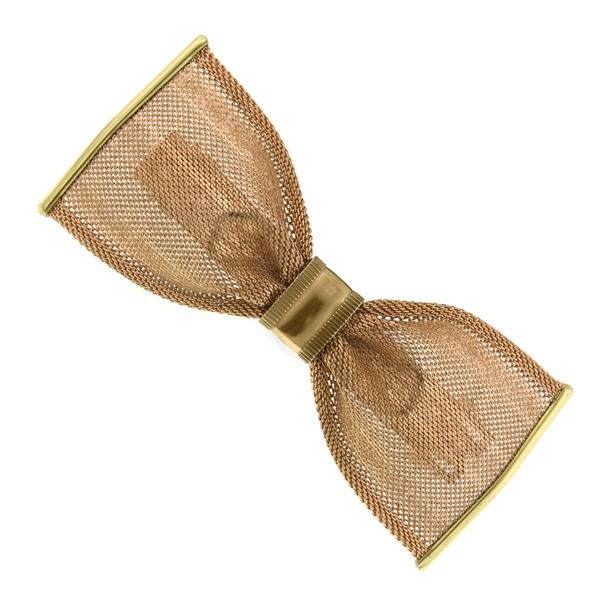 Gold-Tone Bow Hair Barrette