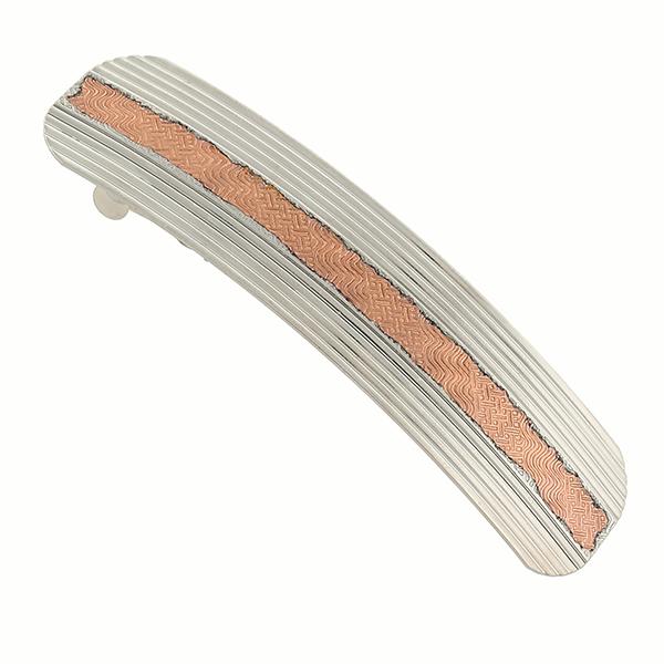 Silver -Tone and Copper-Tone Hair Barrette