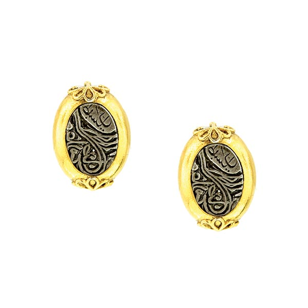 Antiquities Couture Oval Clip On Earrings $35.00 AT vintagedancer.com