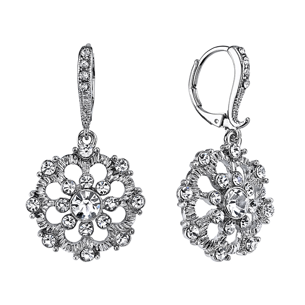 Victorian Inspired Embellished Lever Back Earrings $36.00 AT vintagedancer.com