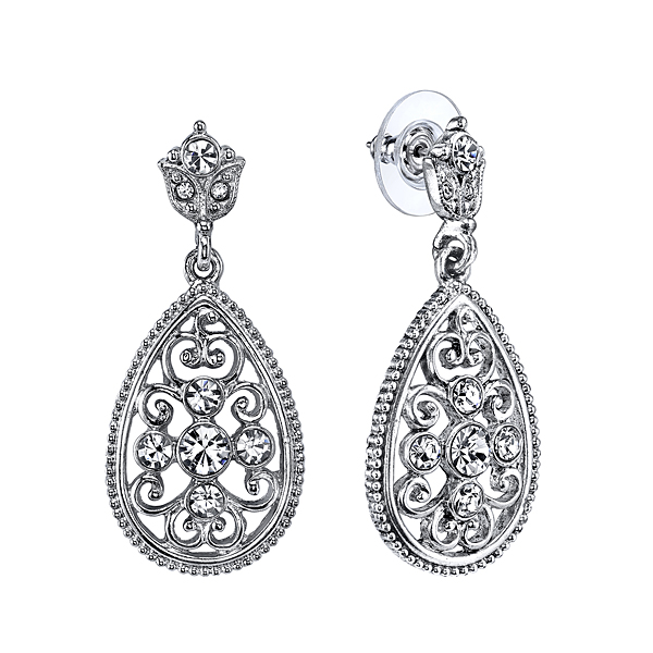 Victorian Inspired Teardrop Earrings $32.00 AT vintagedancer.com