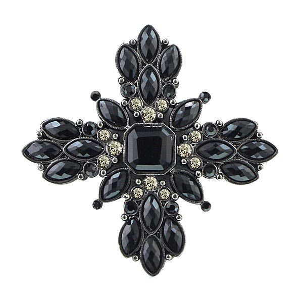 Victoria Black Vintage Brooch $45.00 AT vintagedancer.com