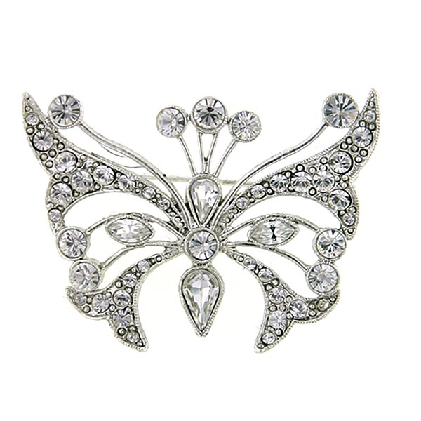 Crystal Fantasy Butterfly Brooch