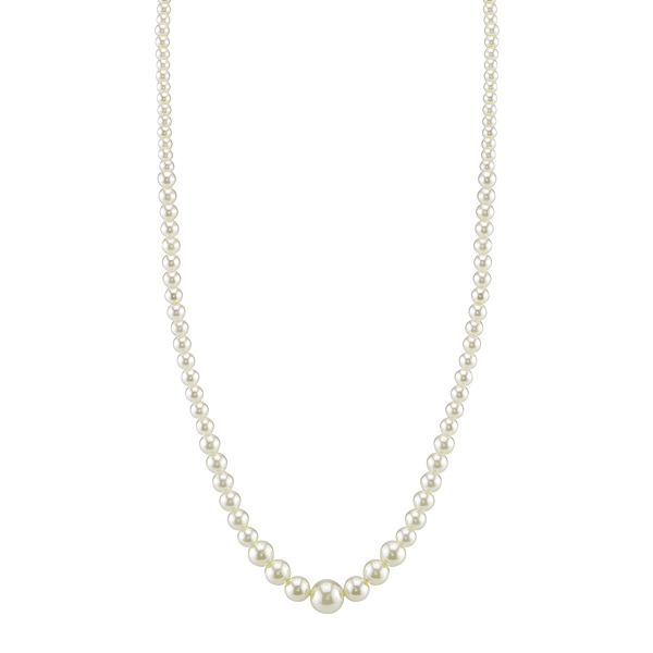 "Eloquence 18"" Delicate Faux Pearl Necklace"