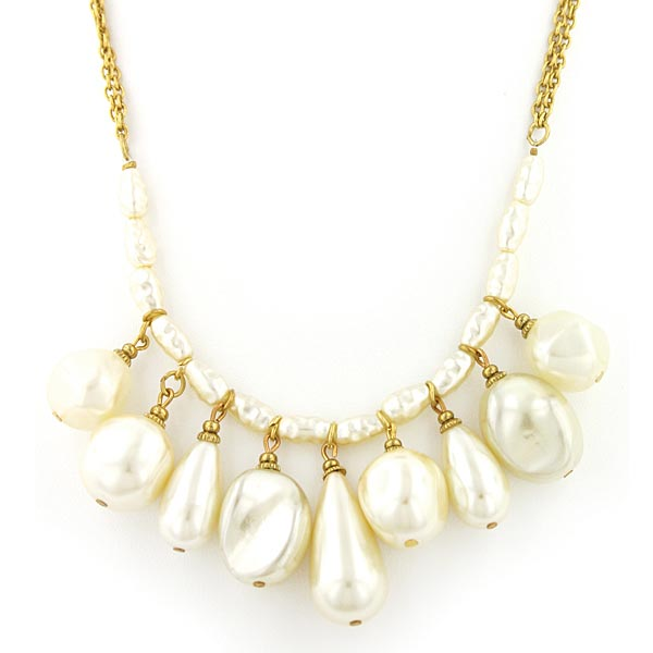 Victorian Baroque Pearls Necklace $26.00 AT vintagedancer.com