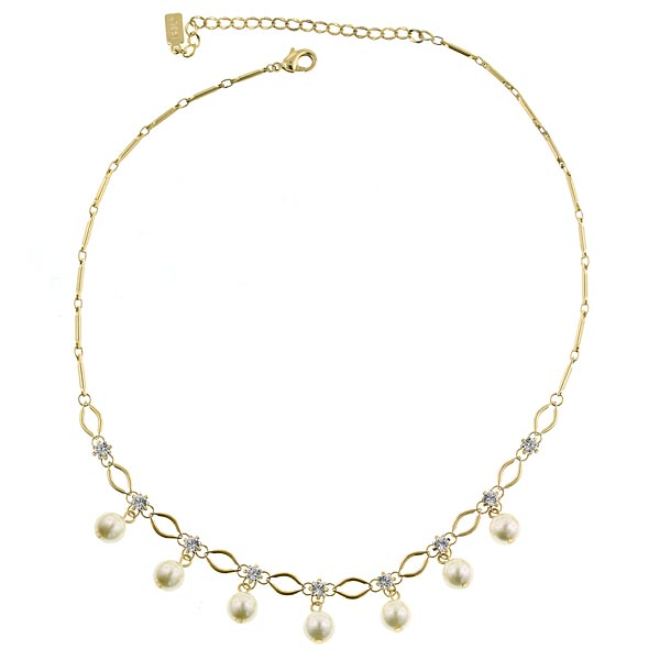 Signature Gold-Tone Faux Pearl Necklace
