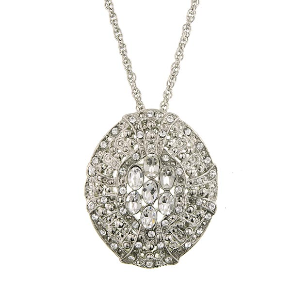 Antiquities Couture White Label Swarovski Crystal Pendant Necklace