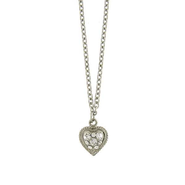 Alex Nicole® Heirlooms Crystal Heart Pendant Necklace