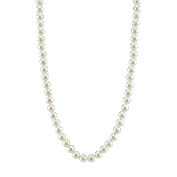 Classic 30 Simulated Pearl Strand Necklace $18.00 AT vintagedancer.com