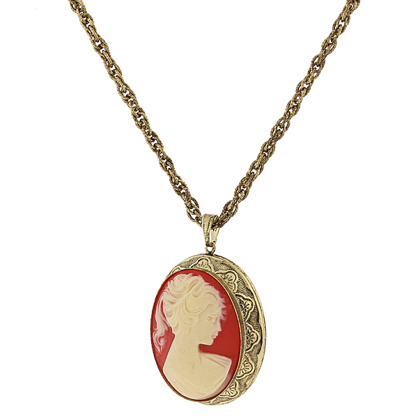 Vintage Cameo Necklace $45.00 AT vintagedancer.com