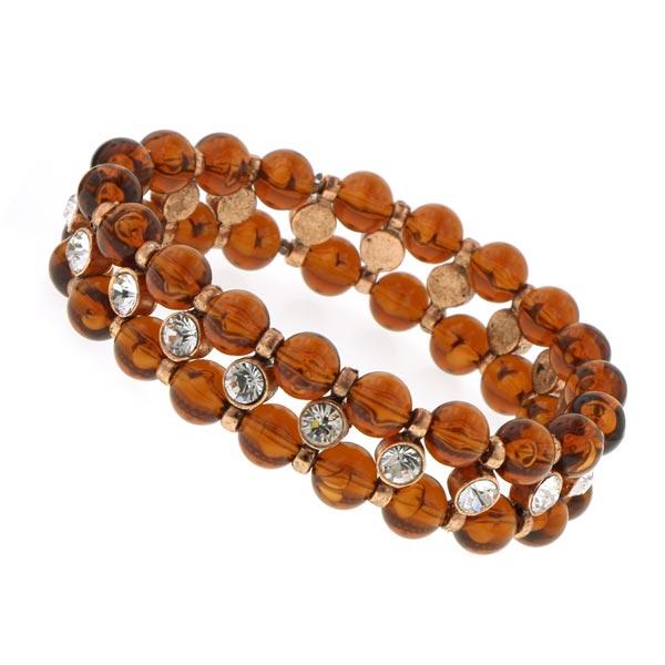 Chérie Amber Beaded Crystal Bracelet