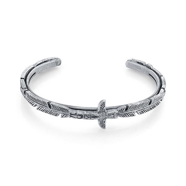 T.R.U. Feather Totem Pole Thin Cuff Bracelet