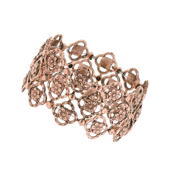Felice in Copper Vintage Stretch Bracelet