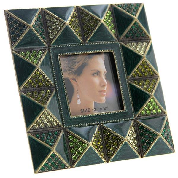 Pyramids Squared Emerald Hues 2x2 Frame